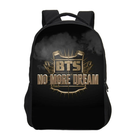 BTS Printing Children Backpacks Fashion School Backpacks