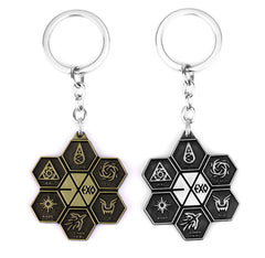 EXO Symbol Keychain Wholesale Antique Bronze Geometric Pendant Key Chain