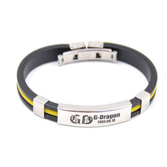 Bigbang Titanium Steel GD Silicone Bracelet G-Dragon Fans Support Wristband