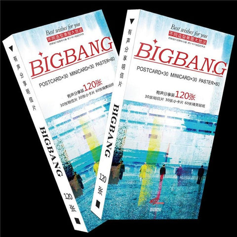 BigBang 120 postcards Stickers + card  Albums photo