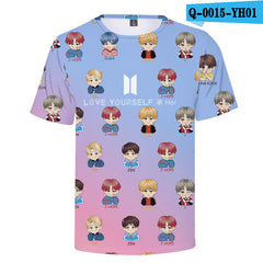 BTS 3D Print BTS Love Yourself Short Sleeve T-shirt