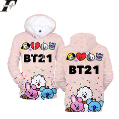 BTS Cartoon New 3D Hoodies