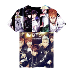 BTS Anime 3D T Shirt