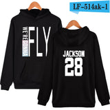 WEJNXIN Kpop Got7 Hoodies For Women Fashion Member Name Print Fleece Sweatshirt Women Pullover Hoodie Tracksuit Sudaderas