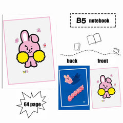 BTS Notebook Convenient Jotter Pocketbook