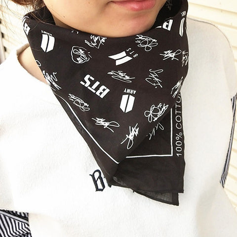 BTS Cotton Scarf Hip Hop Headband