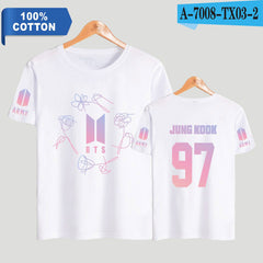 BTS  Short Sleeve Fashion