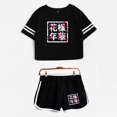 BTS  Summer Shorts And T-shirts