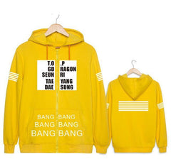 BigBang  Coat Jacket Long-Sleeved  Hoodie