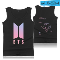 BTS Tear Sleeveless Tank Top