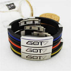 GOT7   Silicone Titanium steel Friendship Wristband Bracelets