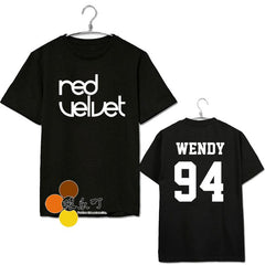 RED VELVET Oneck Short Sleeve T-shirt Cotton