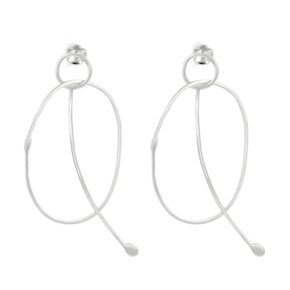 Gravity Earrings - Silver