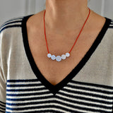 Abacus Necklace - Silver