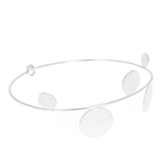 Abacus Bangle Bracelet - Silver