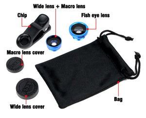 Fisheye Lenses 3 in 1 for Cellphone