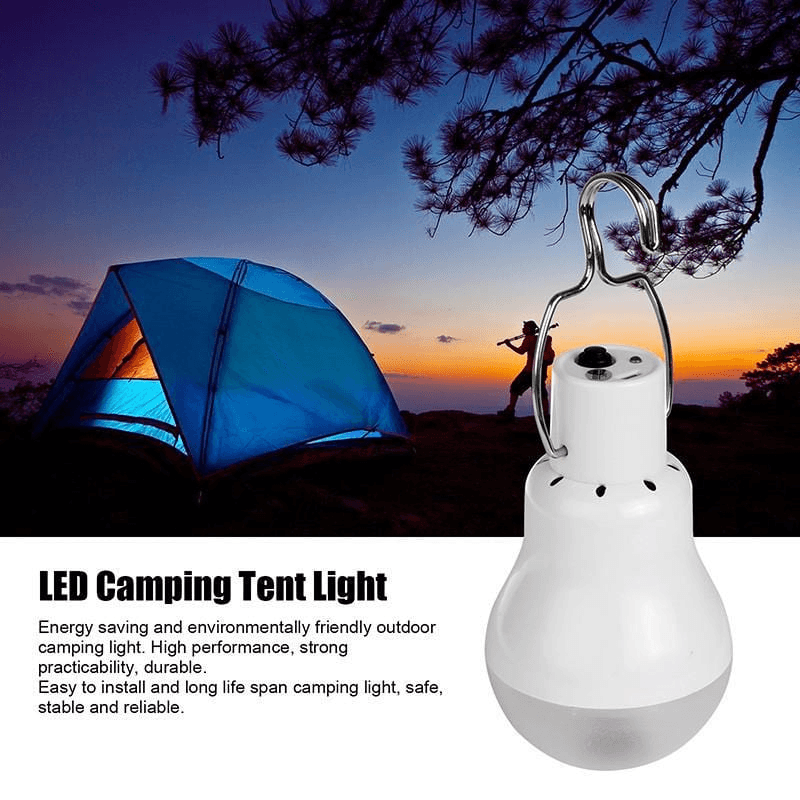 Solar-Powered Camping LED Bulb