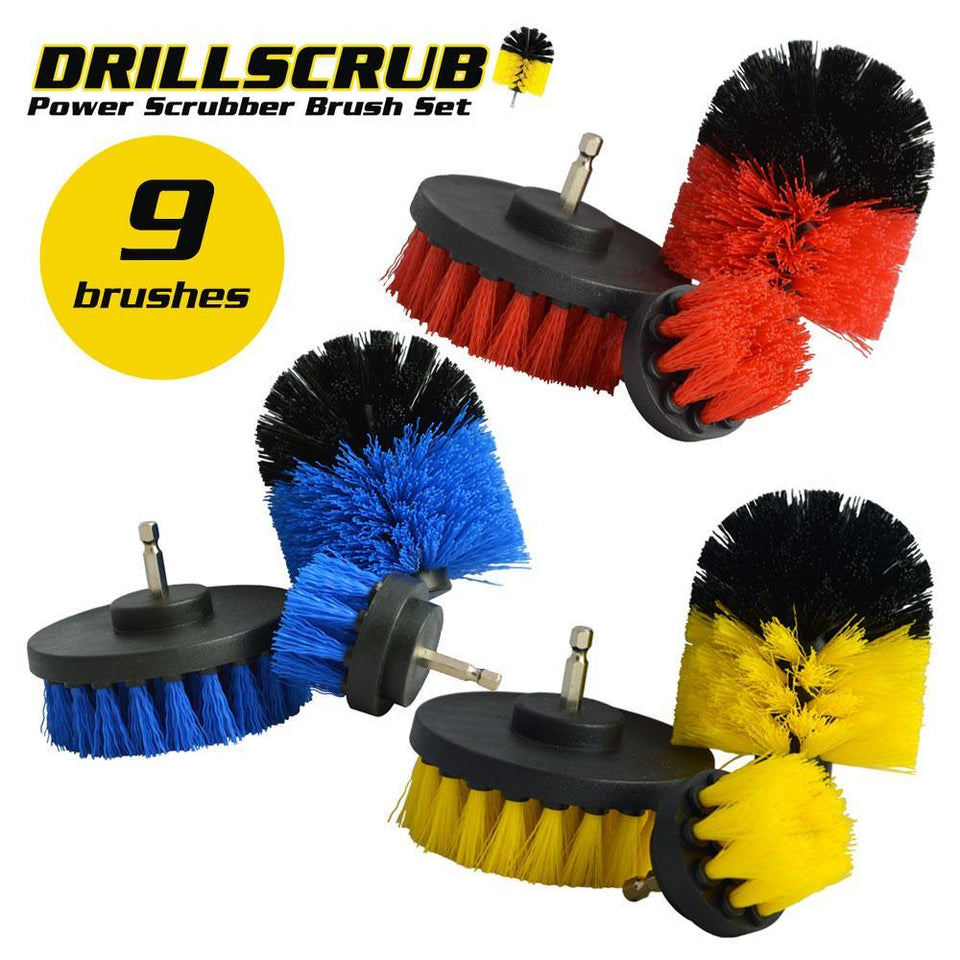 DRILLSCRUB® - The Ultimate Power Scrubber Brush Set