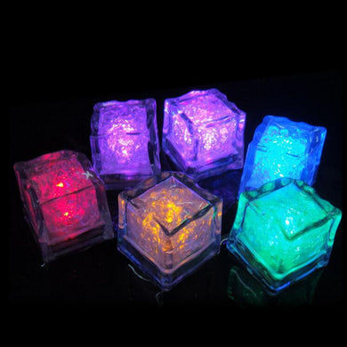 6pcs Colorful Fluorescent Light-Emitting Simulation Ice Cubes