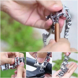 29-in-1 Stainless Steel Multi-Functional Tools Bracelet [2 Variants] - Ring to Perfection