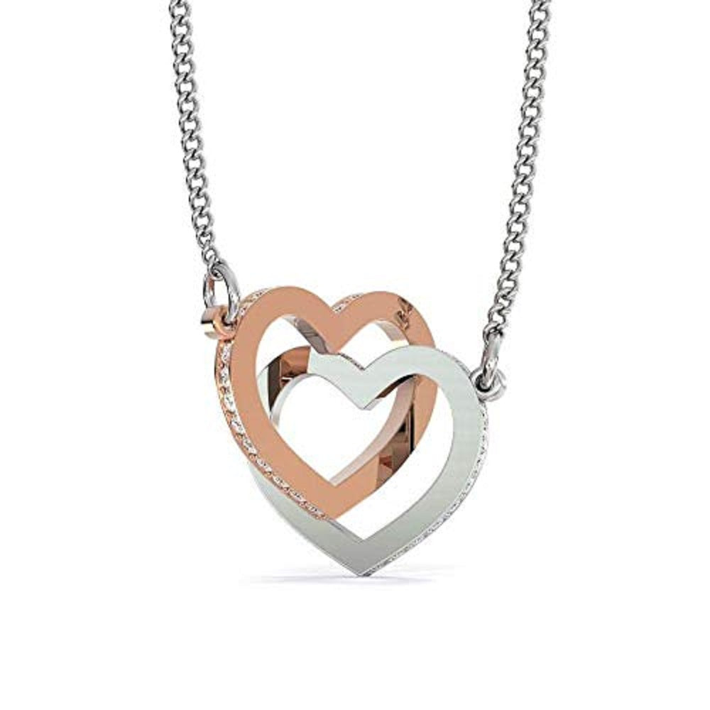 Gift to Wife, Love is You, Inseparable Necklace Pendant, 18k Rose Gold 16""