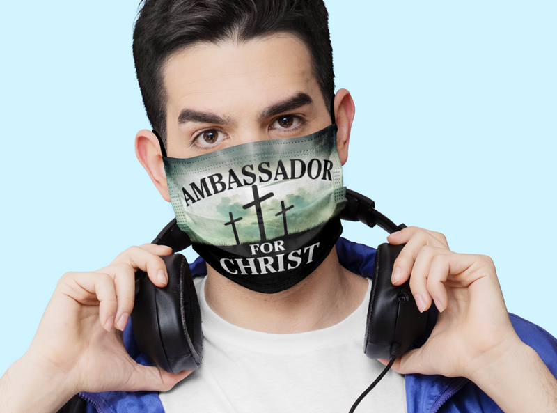 Ambassador for Christ, Inspirational Face Masks, Bible Verse Face Covering, Faith Mask - Express Your Love Gifts