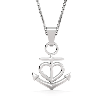 "Religious Gift Blessed Pure in Heart Anchor Necklace Stainless Steel 16-22"" Cable Chain"