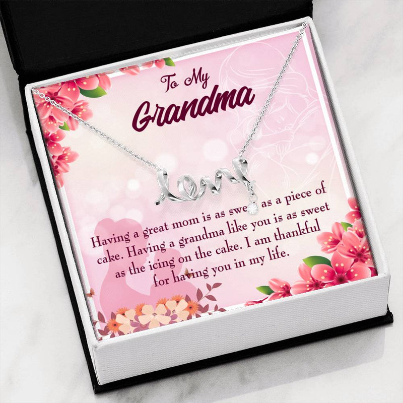 Grandmother Jewelry Gift, Grandma Gift, Grandma Mothers Day Keepsake Card, Stainless Steel Necklace, Birthday Gift