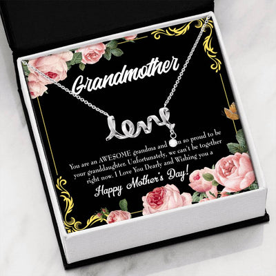 Grandmother Jewelry Gift Granddaughter Mothers Day Gift Grandma Mothers Day Keepsake Card Stainless Steel Necklace Birthday Gift