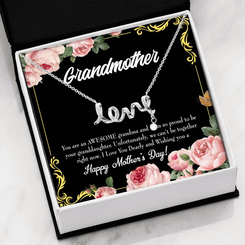 Grandmother Jewelry Gift, Granddaughter Mothers Day Gift, Grandma Mothers Day Keepsake Card, Stainless Steel Necklace, Birthday Gift