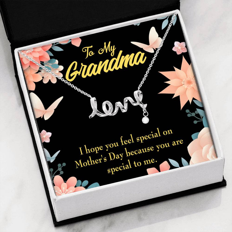 Grandmother Jewelry Gift, Grandma Special, Grandma Mothers Day Keepsake Card, Stainless Steel Necklace, Birthday Gift