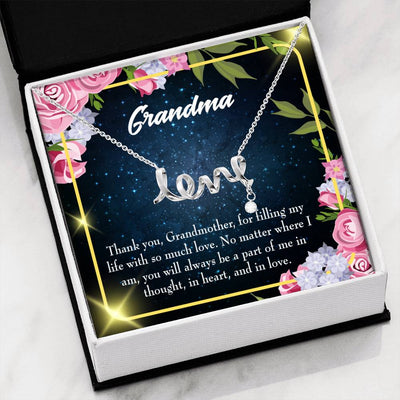Grandmother Jewelry Gift Grandma Mothers Day Keepsake Card Grandma Part of Me Stainless Steel Necklace Birthday Gift