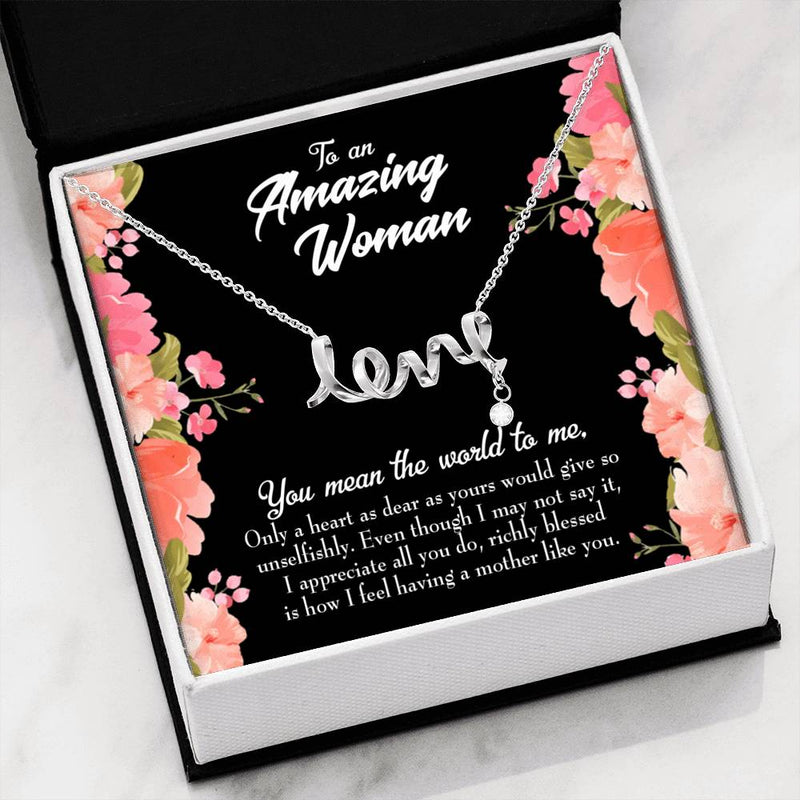 Grandmother Jewelry Gift, GrandMother Day Keepsake Card, Grandma is Giving, Stainless Steel Necklace, Birthday Gift