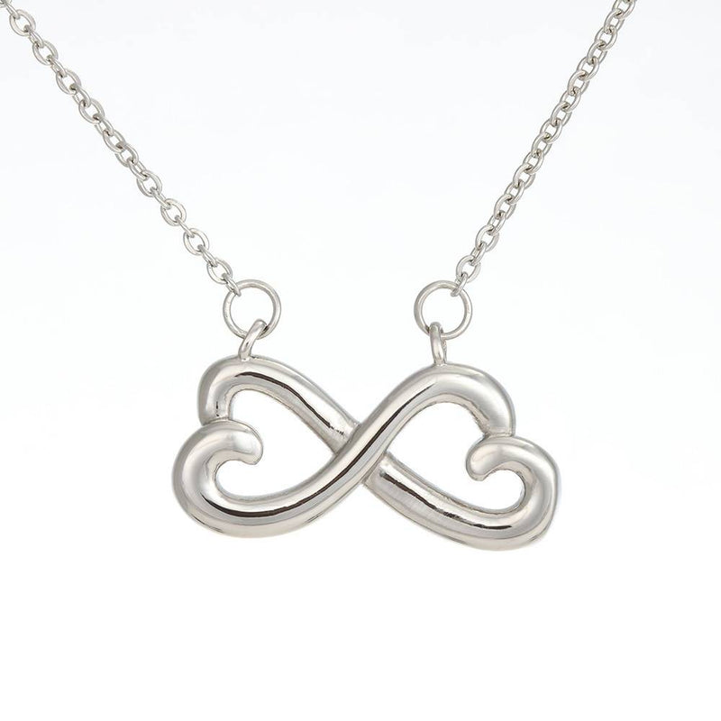 My Amazing Daughter, Infinity Love Necklace, Heartfelt Daughter Card & Pendant Stainless Steel or 18k Gold