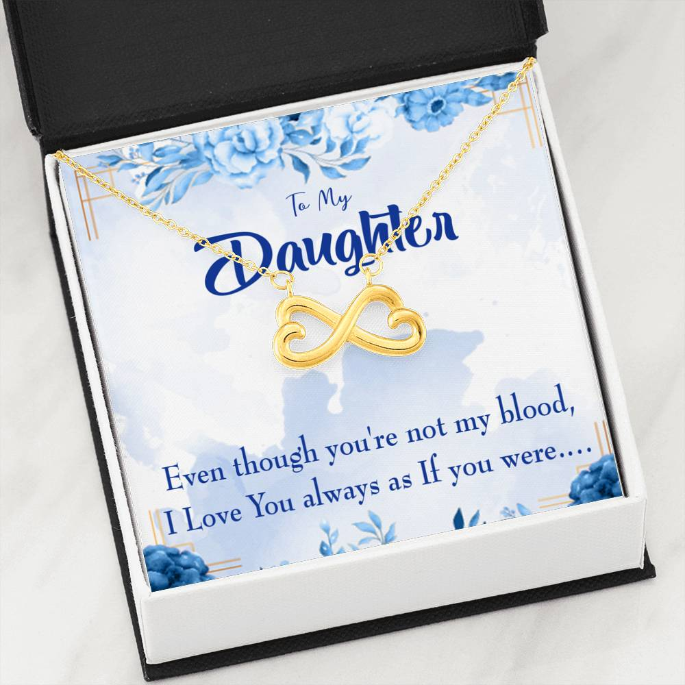 Unbiological Daughter Gift Step Daughter Gift Stepdaughter Necklace Heartfelt Card & Pendant Stainless Steel or 18k Gold - Express Your Love Gifts