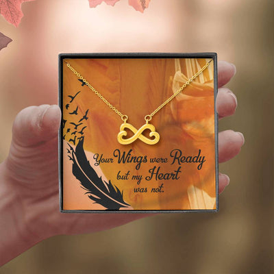 Your Wings Were Ready Infinity Stainless Steel Pendant Keepsake Card Jewelry Gift