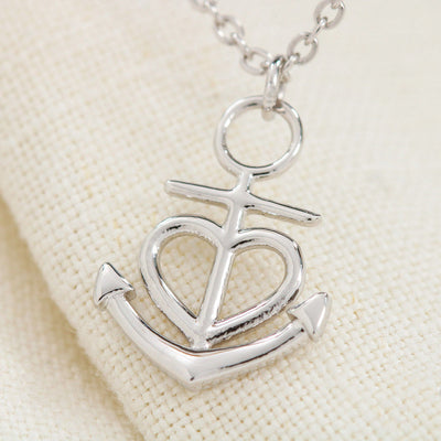 "She is More Precious Than Rubies Religious Gift Proverbs 3:15 Anchor Necklace Stainless Steel 16-22"" Cable Chain"