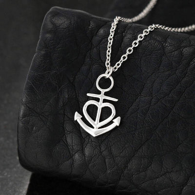 "The Lord is With You Religious Gift Isaiah 41:10 Anchor Necklace Stainless Steel 16-22"" Cable Chain"