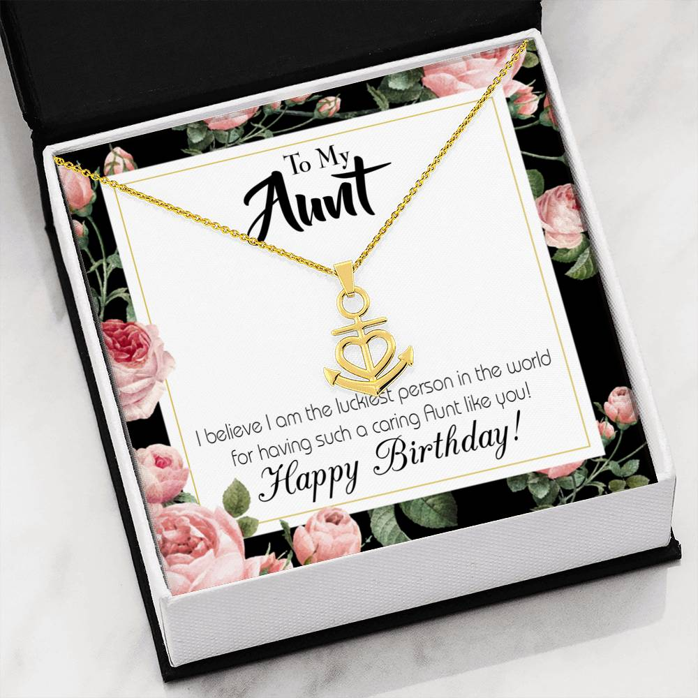 Aunt Like You Aunt Gift Aunt Jewelry Anchor Necklace Stainless Steel Best Aunt Ever Pendant