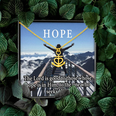 "Hope Religious Gift Anchor Necklace Stainless Steel 16-22"" Cable Chain"
