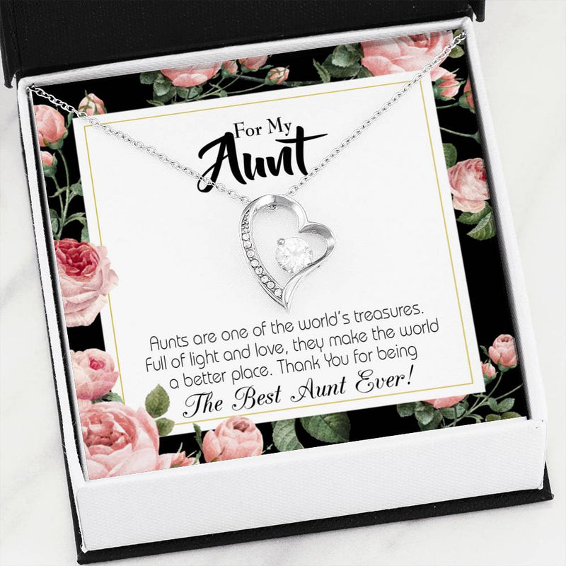 Best Aunt Ever, Aunt Gift, Aunt jewelry, Forever Necklace Stainless Steel, gifts for Aunt,