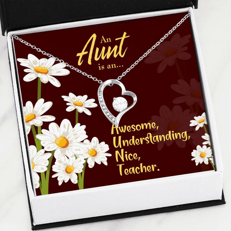 Aunt Gift, Aunt jewelry, Forever Necklace Stainless Steel, gifts for Aunty, AUNT Defined