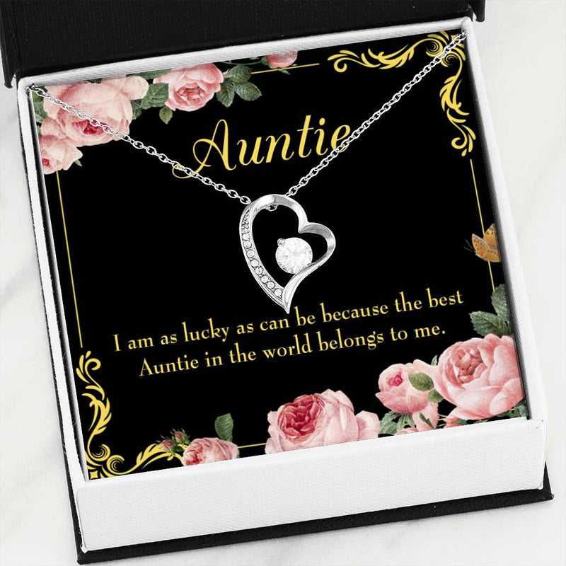 Best Auntie, Aunt Gift, Aunt jewelry, Forever Necklace Stainless Steel, gifts for Aunt,