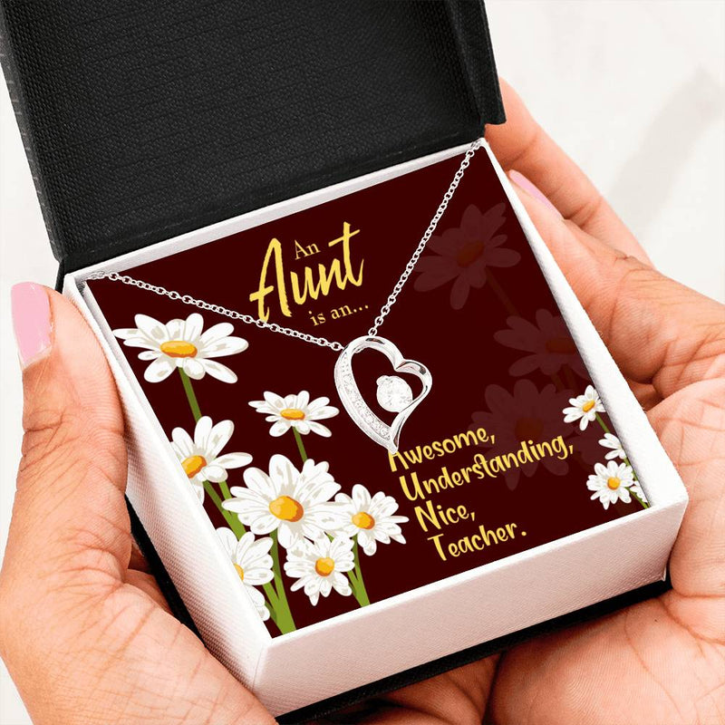 Aunt Gift Aunt jewelry Forever Necklace Stainless Steel gifts for Aunty AUNT Defined