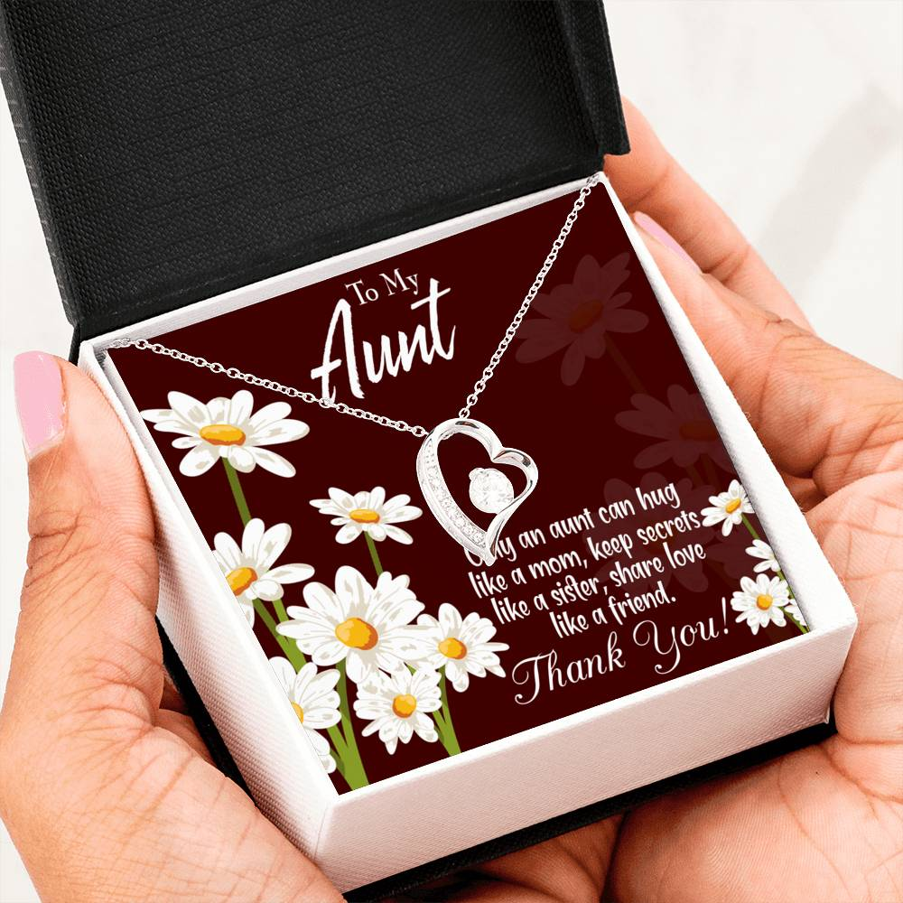 Aunt Gift, Aunt jewelry, Forever Necklace Stainless Steel, s for Aunt, Aunt Like Mom