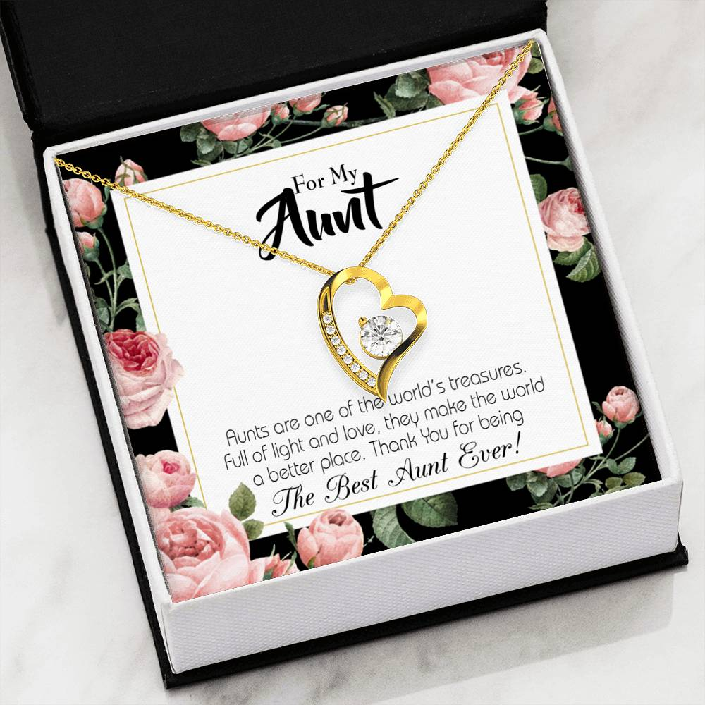 Best Aunt Ever Aunt Gift Aunt jewelry Forever Necklace Stainless Steel gifts for Aunt