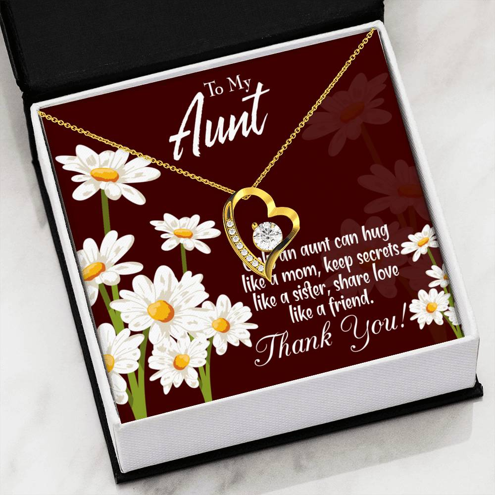 Aunt Gift Aunt jewelry Forever Necklace Stainless Steel s for Aunt Aunt Like Mom