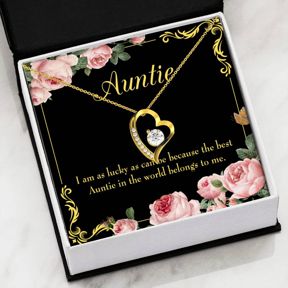 Best Auntie Aunt Gift Aunt jewelry Forever Necklace Stainless Steel gifts for Aunt
