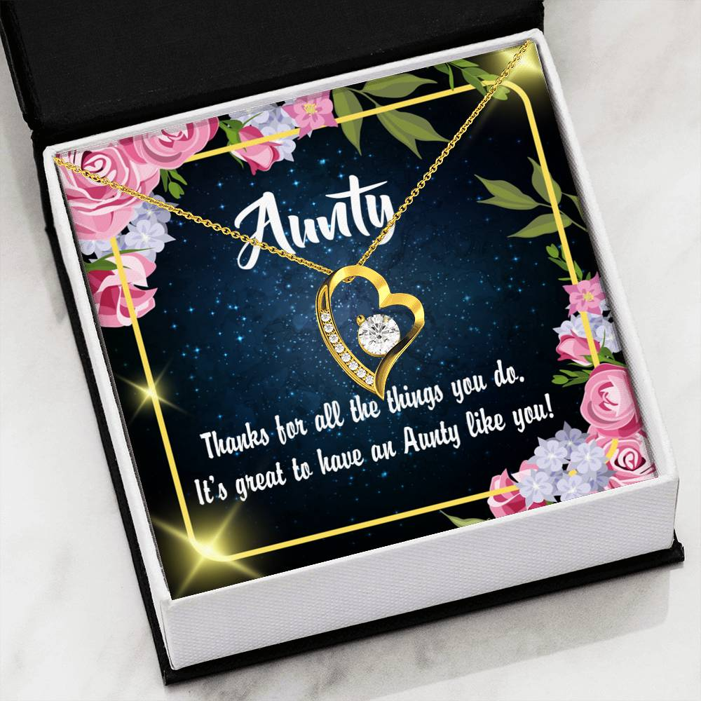Aunt Gift Aunt jewelry Forever Necklace Stainless Steel gifts for Aunt Auntie Like You