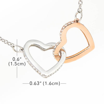 To My Wife Forever and Always Inseparable Necklace Pendant, 18k Rose Gold Finish 16""